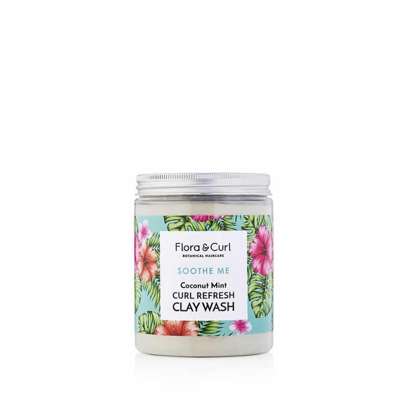 Flora & Curl Curl Refresh Clay wash er en dybdegående rens der er curly girl godkendt produktet forhandles ved www.CurlsForYou.dk