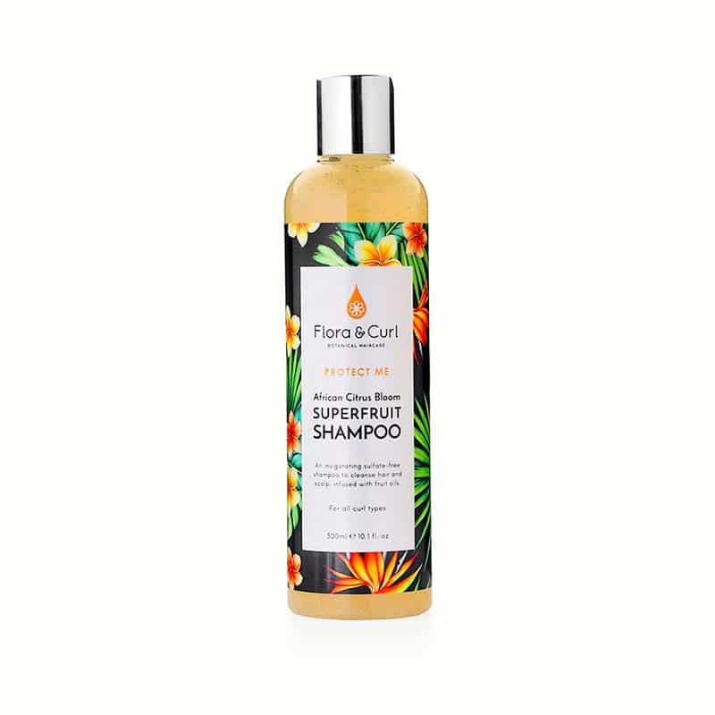 Flora & Curl African Citrus Superfruit Shampoo curly girl godkendt produkt forhandles ved www.CurlsForYou.dk