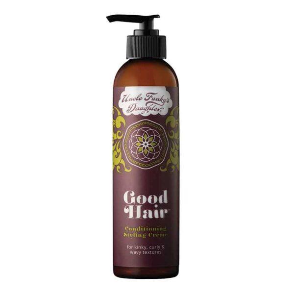 Uncle Funky´s Daughter Good Hair Leave-in Conditioning Styling Creme Curly er en krøllecreme balsam godkendt til curly girl metoden