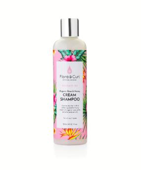 Flora & Curl Organic Rose & Honey Cream Shampoo curly girl godkendt produkt forhandles ved ww.curlsforyou.dk din curly girl shop